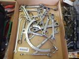 1 Flat of various wrenches