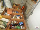 1 lot of cleaning supplies, oil, degreaser, etc.