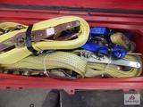 Tool box and contents, ratchet straps