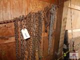1 Lot of Chains some with hooks