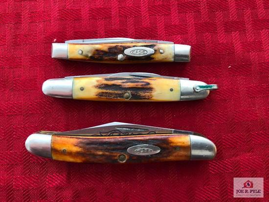 Lot of 2 Case medium/small folding knives