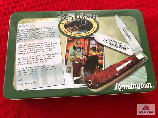 Remington Silver Anniversary Bullet Knife w/Collector's Tin (2007)