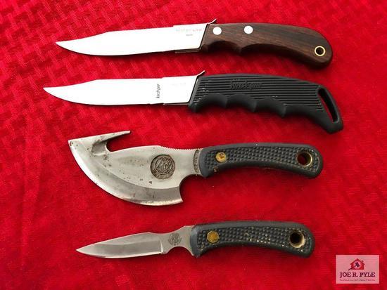 """Lot of 4 knives: (2) Kershaw """"Blade Trader"""" knives, (2) Knives of Alaska skinning knives"""