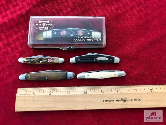 Lot of 5: Boker knife, Camillus pocket knife, etc.