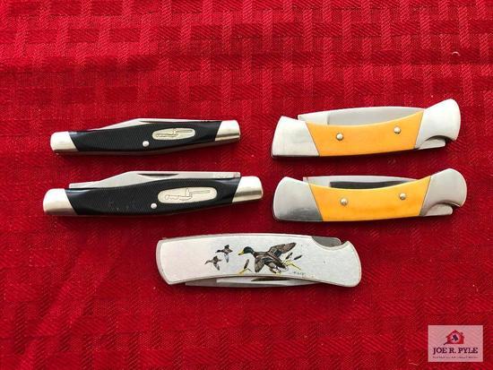 Lot of 5 Buck pocket knives