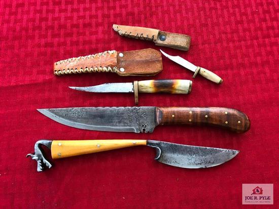 Lot of 4 custom knives