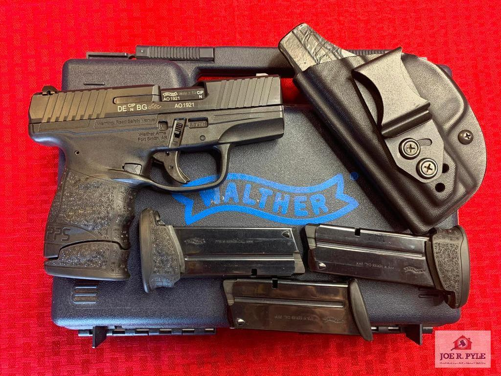 Carl Walther PPS 9x19mm | SN: AO1921 | Comments: WITH BOX; 4 TOTAL MAGAZINES, HOLSTER