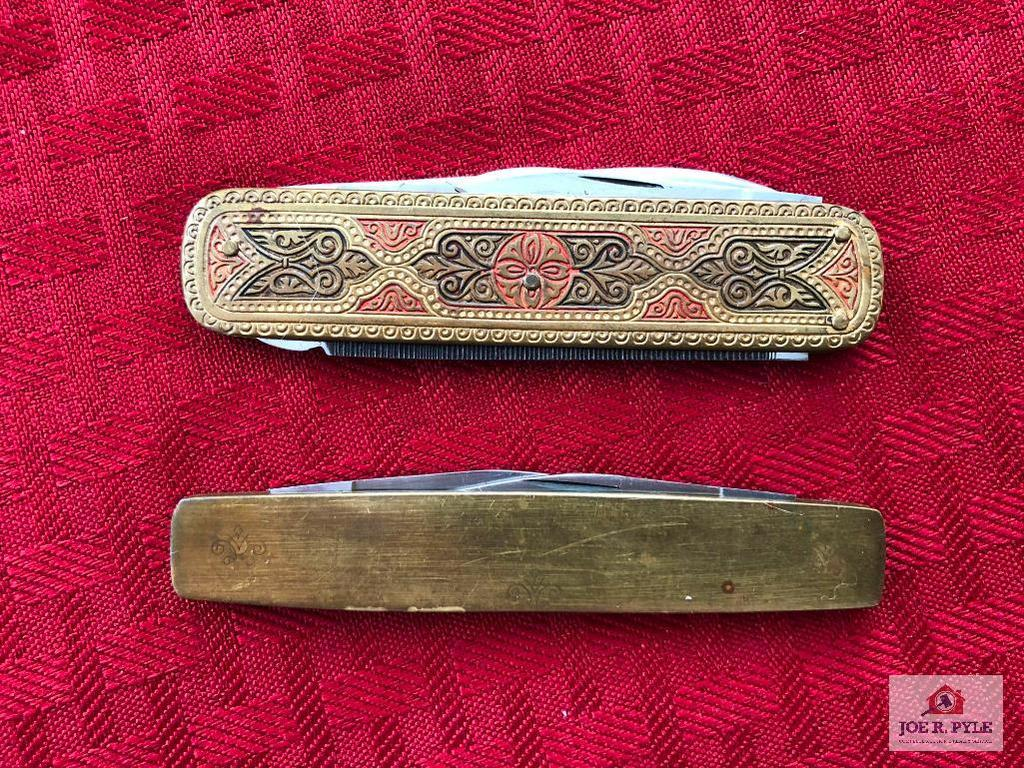 Lot of 2 brass Case pocket knives