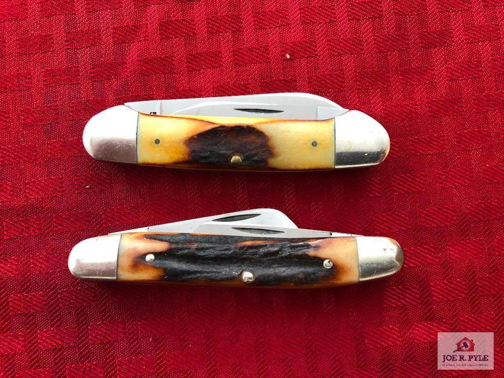 Lot of 2 Case medium folding knives
