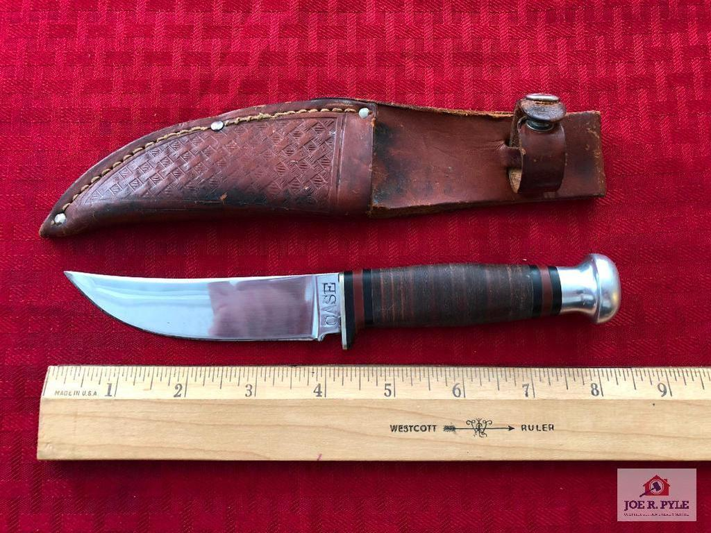 Case fixed blade knife w/sheath