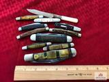 Lot of 11: Hen & Rooster bullet knife, Loyal Order of Moose advertising knife, letter opener, etc.