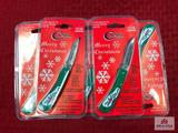Lot of 5 Case 1996 Merry Christmas knives (still in packaging)
