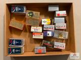 Flat of various .22 mag ammo