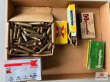 Flat of misc. ammo: 10g blanks, (3) .222 Rem, .223 Rem, unknown rifle cartridge blanks