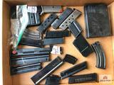 Flat of various small caliber stick magazines