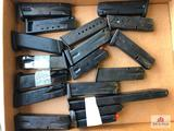 Flat of 9mm magazines