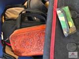 Tote of 20+ softside handgun cases