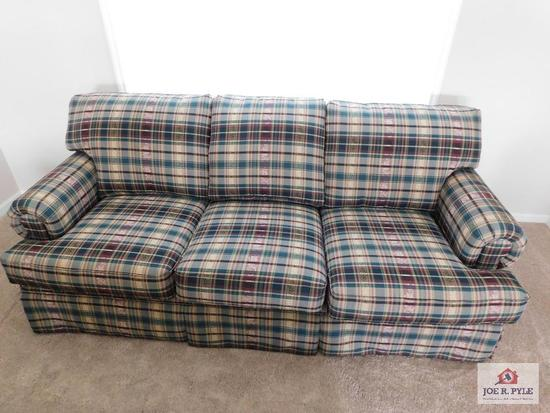 Country plaid sofa