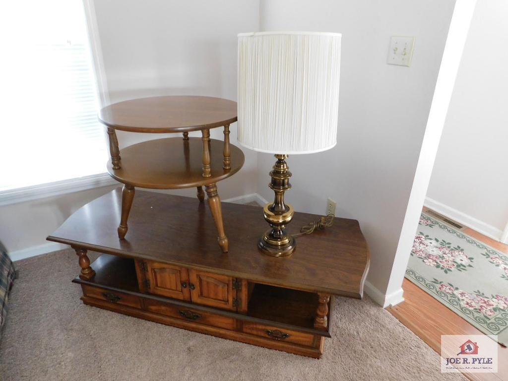 Coffee table, end table & lamp