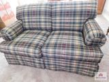 Country plaid loveseat