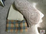 Wool and crocheted throws