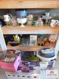 Rice cooker, glasses ,vases, candy dishes