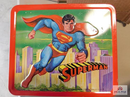 Superman lunch box and thermos