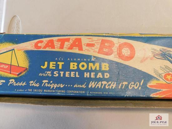 1950s Cata-Bo-Alum jet bomb in original box