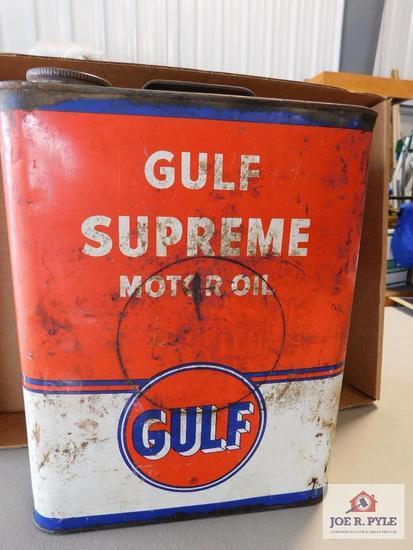 Gulf motor oil can