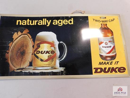 DUKE beer sign
