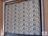 Uncut $1 Dollar Bills