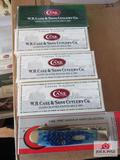 Lot Of 5 Case Xx Pocket Knives In Box