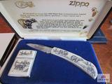 Case XX Pocket Knife with Zippo lighter