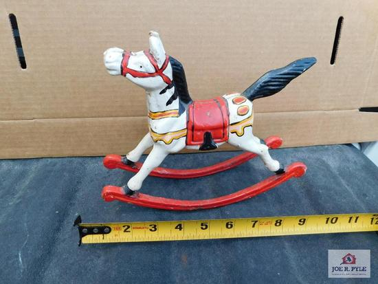Cast metal rocking horse