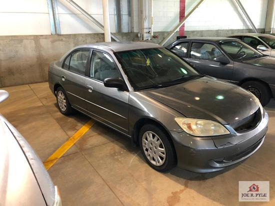 2004 Honda Civic Passenger Car, VIN # 2HGES16594H530639