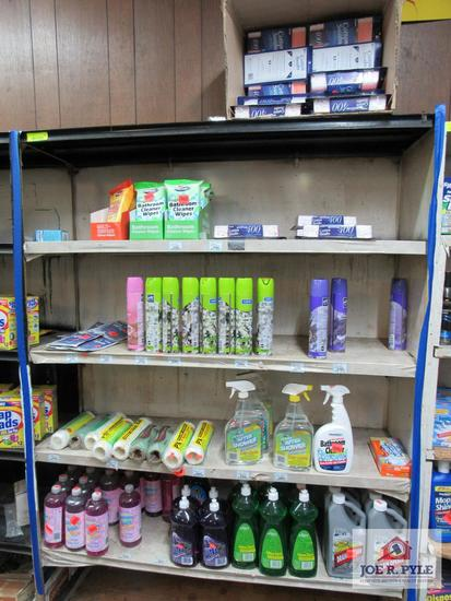 4 ft section of air freshener, cleaning supplies, etc.