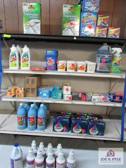 4 ft section of dish detergent, soap, etc.