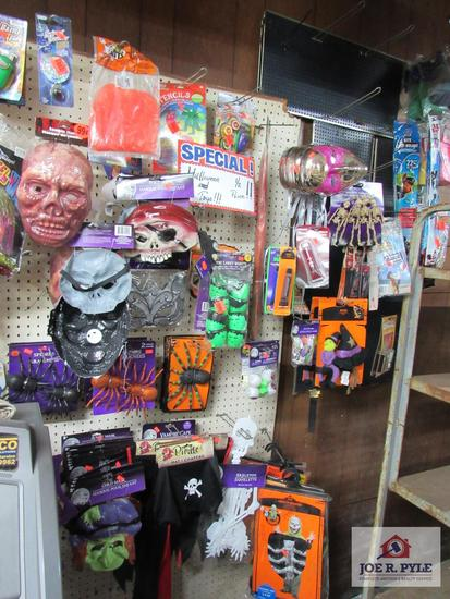 misc. Halloween decor, toys, party supplies