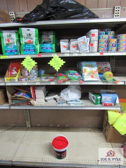 dog treats, cat food coloring books approx. 100 items
