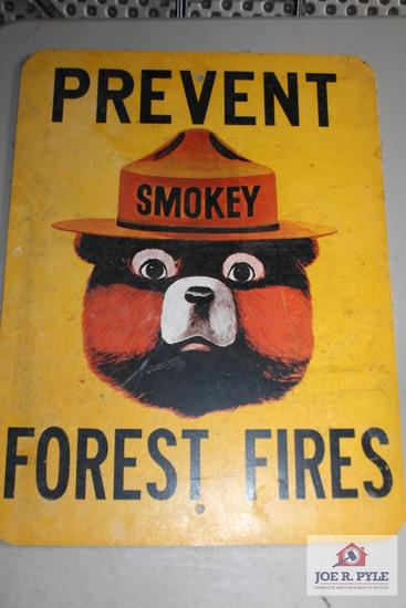 Smokey the Bear Prevent Forest Fire Sign