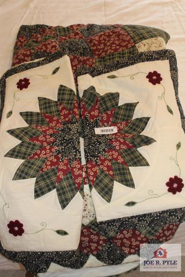 Quilt with Matching Pillow Case