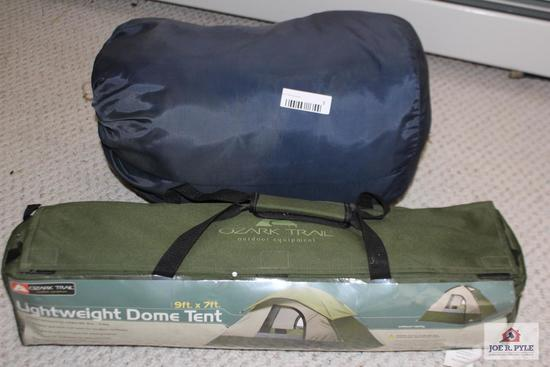 Ozark Trail Dome Tent with Sleeping Bag