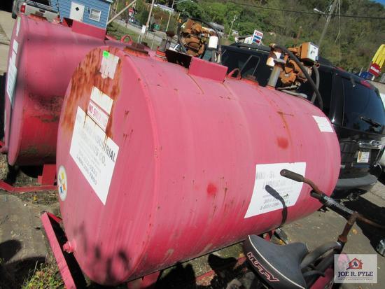 500 Gallon Gas Tank W Pump