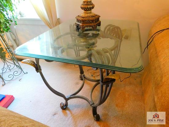 Glass top modern end table