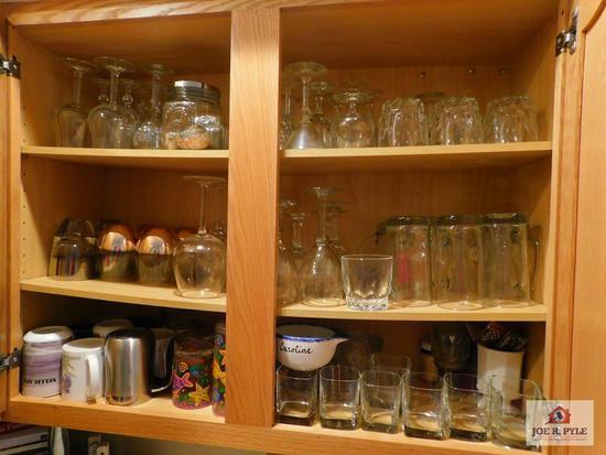 Cabinet of stemware & cups