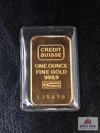 Credit Suisse Gold Bar 1 OZ. No. 135496