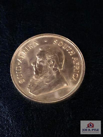 1980 1 OZ. Gold Krugerrand Coin