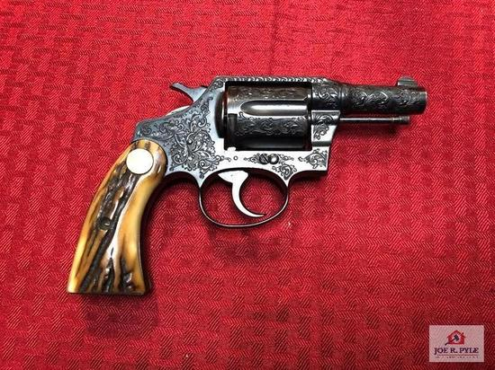 COLT DOUBLE ACTION REVOLVER ENGRAVED .38 | SN: 332226