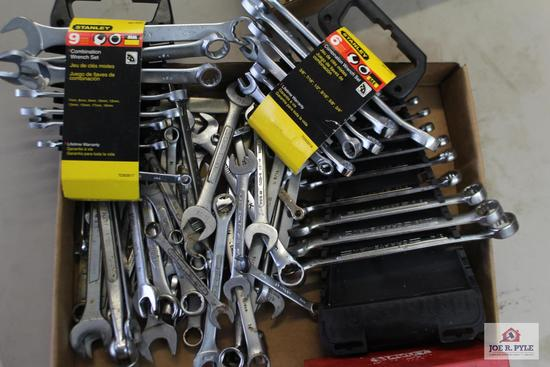 Assorted box wrenches