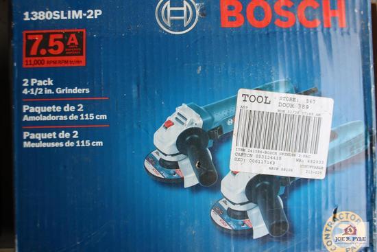 2 Bosch grinders (NIB)